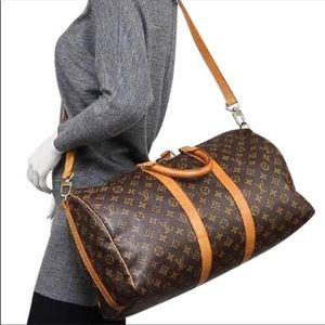 Authentic Louis Vuitton Keepall Bandouliere 55 Bag